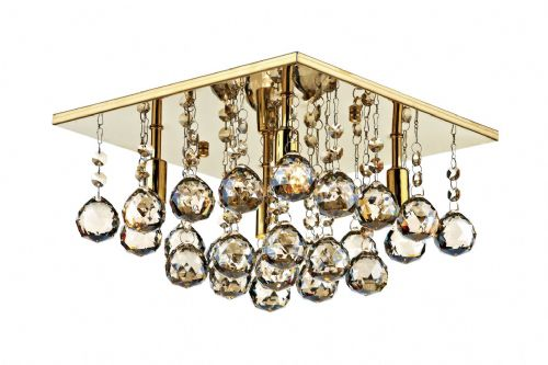 Abacus 4-light Gold Finish Flush Ceiling Light ABA5240